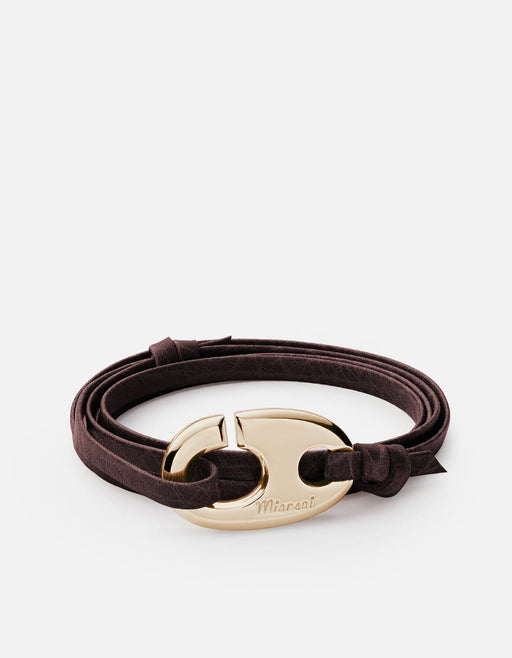 Miansai - Brummel Hook Bracelet, Gold Plated