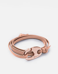 Miansai - Brummel Hook Bracelet, Rose Plated