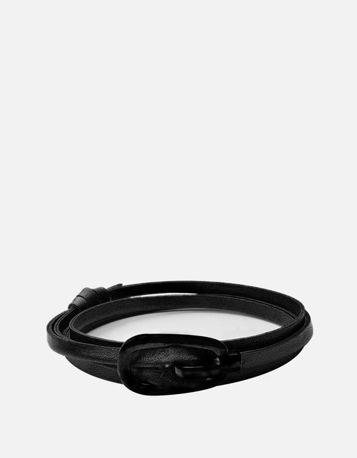 Miansai - New Gamle Leather Bracelet, Noir