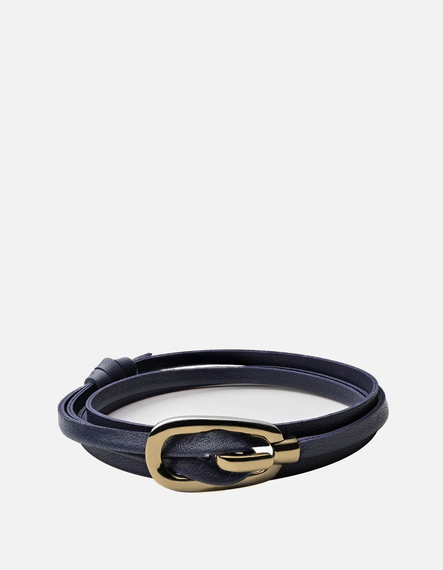 Miansai - New Gamle Leather Bracelet, Gold Plated
