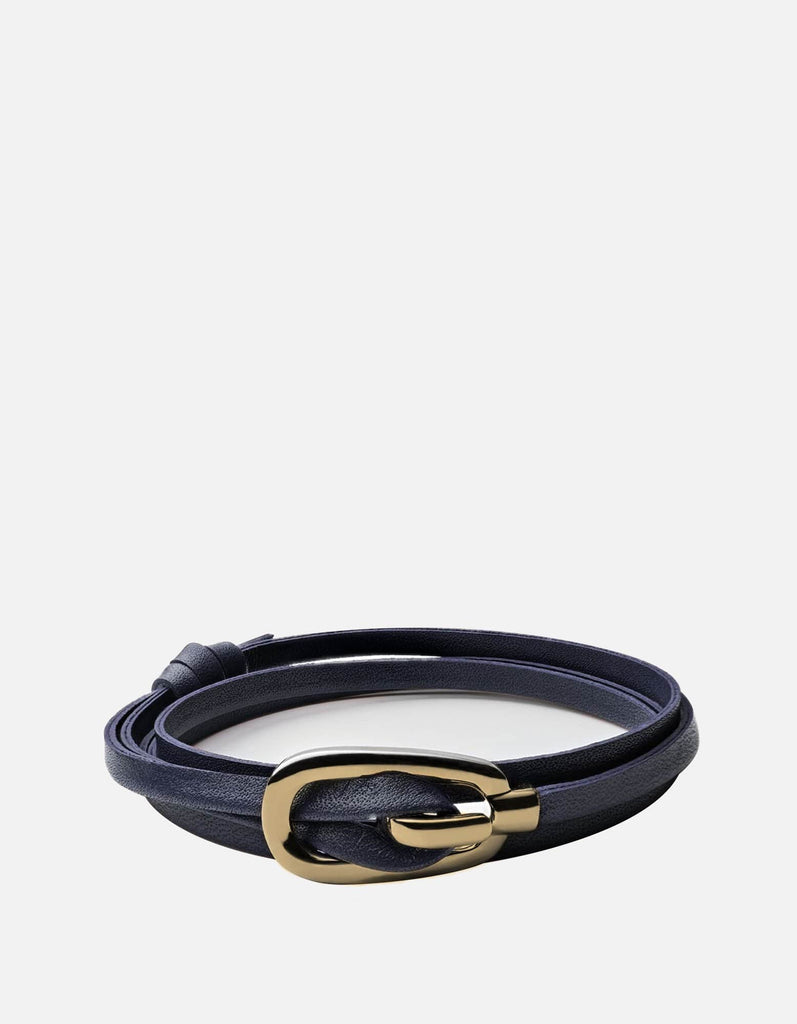 New Gamle Leather Bracelet, Gold Plated