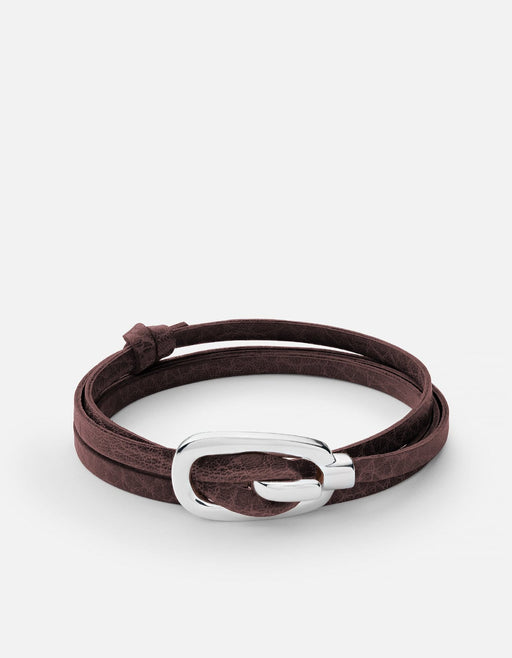 Miansai - New Gamle Leather Bracelet, Silver Plated