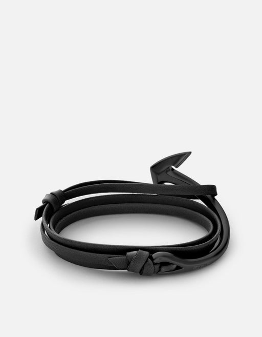 Miansai - Anchor Half-Cuff Leather, Noir