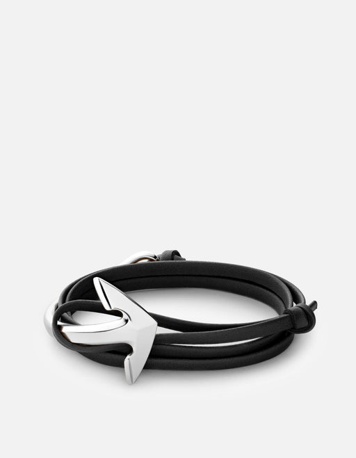 Miansai - Anchor Half-Cuff Leather, Silver