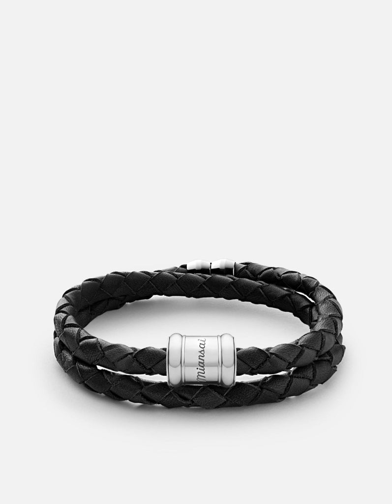 Leather Casing Bracelet, Silver | Men's Bracelets | Miansai