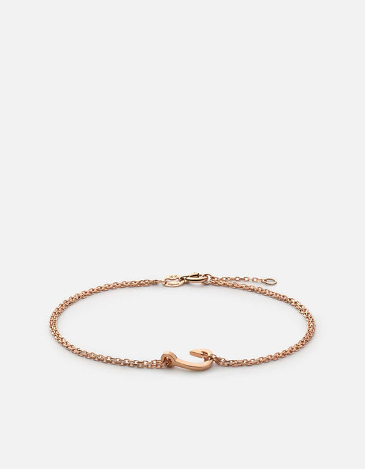 Charm Hook Bracelet, 10k Rose Gold | Women's Bracelets | Miansai