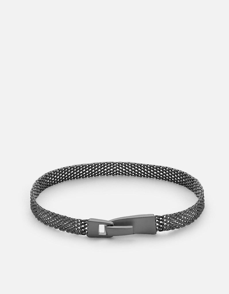 Miansai - Mesh Chain Wrap, Matte Black Rhodium