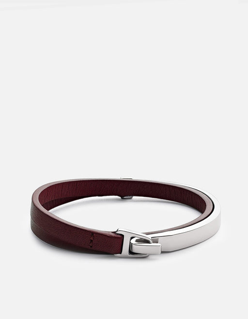 Miansai - Moore Half Cuff Leather, Sterling Silver