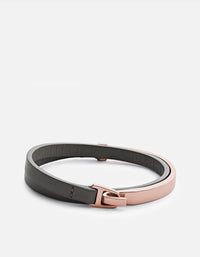 Moore Half Cuff Leather, Rose Gold | Men's Bracelets | Miansai