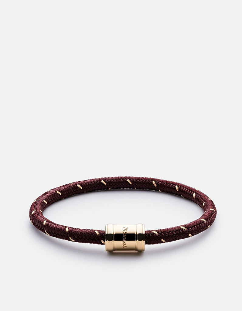 Mini Single Rope Casing, Gold Plated | Women's Bracelets | Miansai