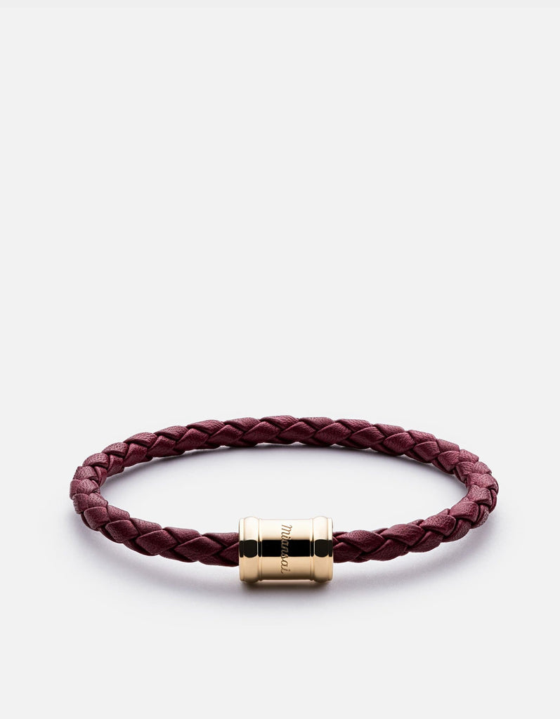Mini Single Leather Casing, Gold Plated | Women's Bracelets | Miansai