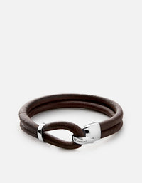 Beacon Leather Cord, Sterling Silver | Men's Bracelets | Miansai