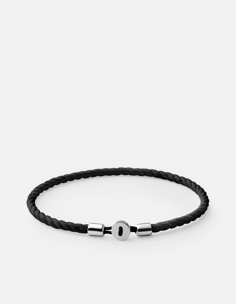 Nexus Cotton Rope Bracelet, Sterling Silver | Men's Bracelets | Miansai