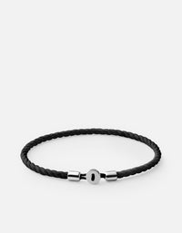 Miansai - Nexus Cotton Rope Bracelet, Sterling Silver