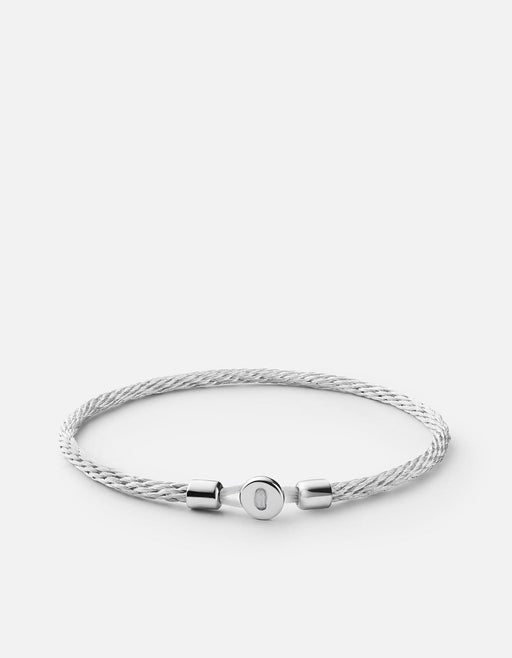 Nexus Cable Bracelet, Sterling Silver | Men's Bracelets | Miansai