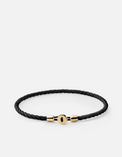 Nexus Cotton Rope Bracelet, Gold Vermeil | Women's Bracelets | Miansai