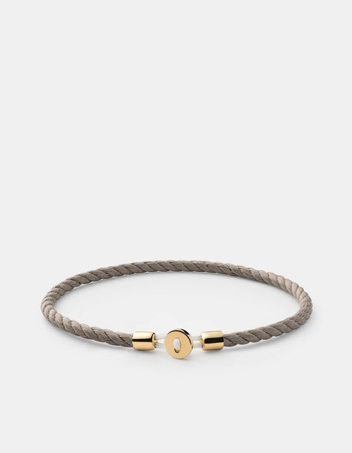 Miansai - Nexus Cotton Rope Bracelet, Gold Vermeil