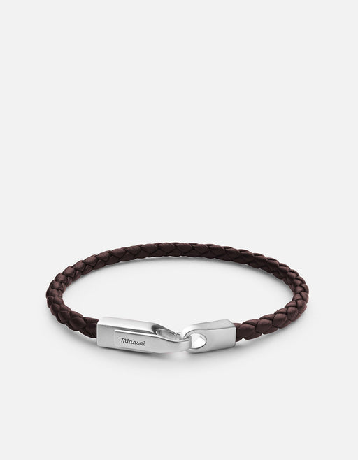 Miansai - Crew Leather Bracelet, Matte Silver