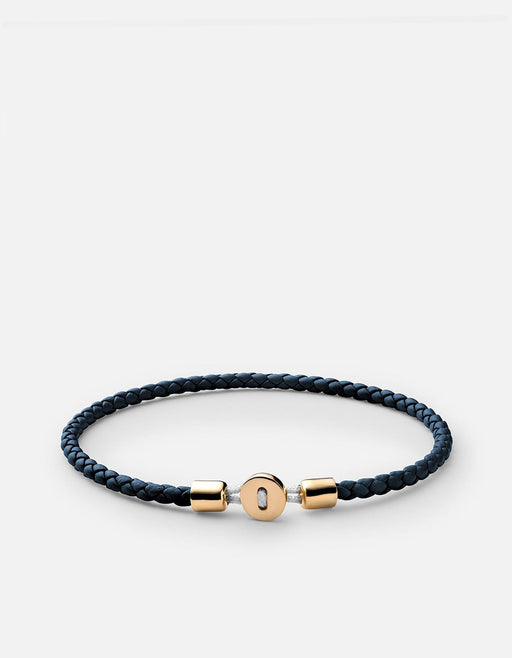 Nexus Leather Bracelet, Gold Vermeil, Polished | Men's Bracelets | Miansai