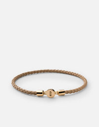 Nexus Leather Bracelet, Gold Vermeil, Polished | Women's Bracelets | Miansai