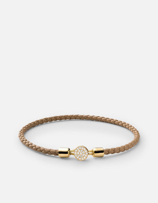 Nexus Leather Bracelet, 14k Gold Pavé | Women's Bracelets | Miansai