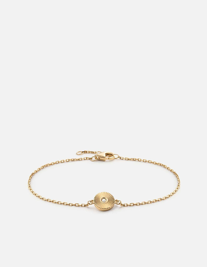 Rey Chain Bracelet, 14k Yellow Gold w/Diamond, Polished | Women's Bracelets | Miansai