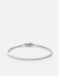 Century Square Bracelet, 14k White Gold w/Pave, Polished | Women's Bracelets | Miansai