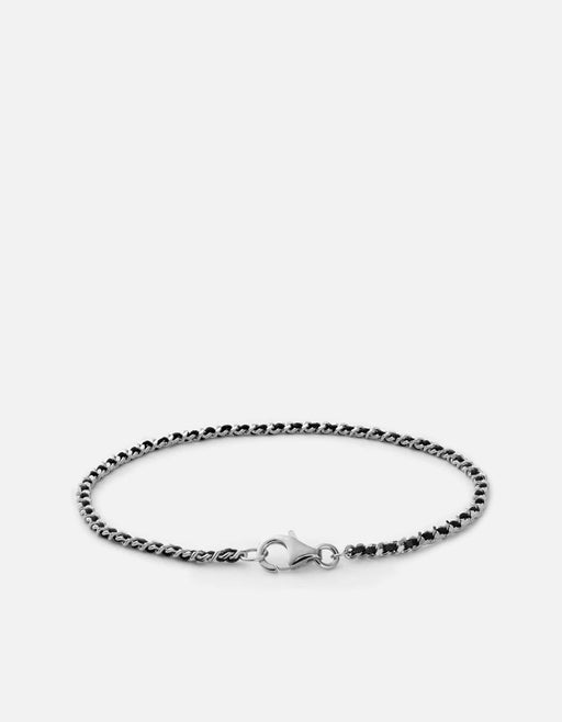 2mm Braided Chain Bracelet, Sterling Silver, Polished | Women's Bracelets | Miansai