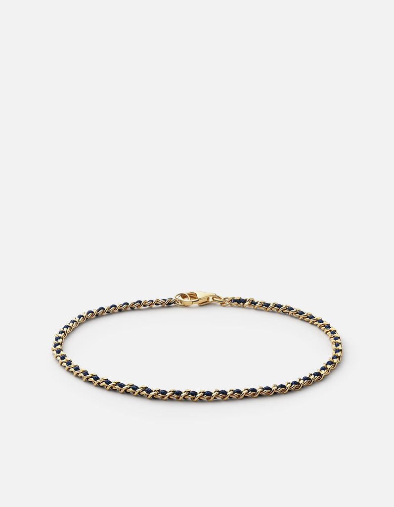 Miansai - 2mm Braided Chain Bracelet, Gold Vermeil