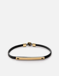 Nexus ID Leather Bracelet, Gold Vermeil, Polished | Women's Bracelets | Miansai