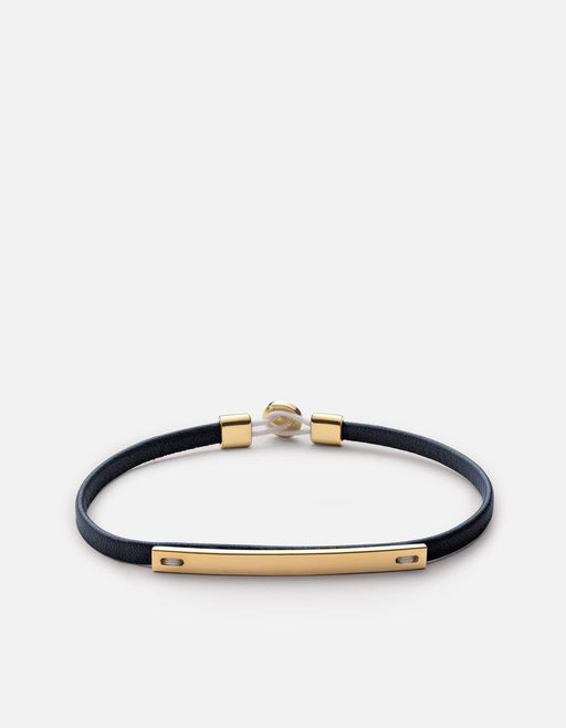 Miansai - Nexus ID Leather Bracelet, Gold Vermeil