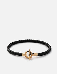 Miansai - Atlas Leather Bracelet, Gold Vermeil