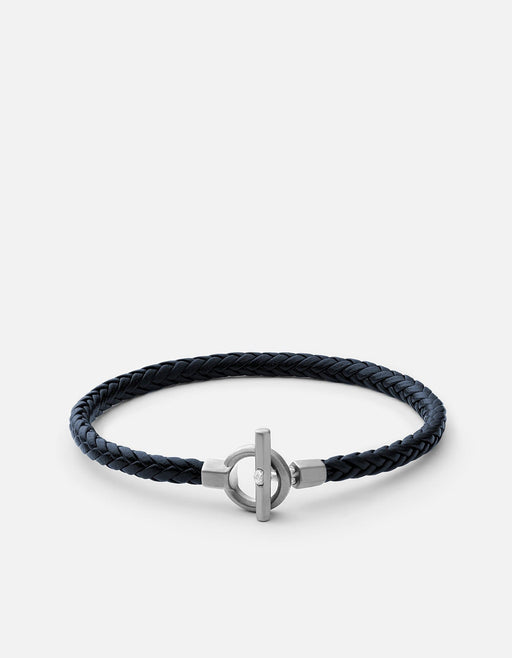 Miansai - Atlas Leather Bracelet, Matte Sterling Silver