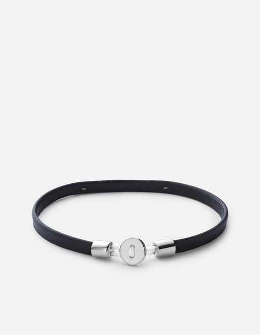 Miansai - Nexus ID Leather Bracelet, Matte Silver