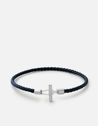 Miansai - Vice Leather Bracelet, Sterling Silver