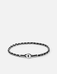 Nexus Link Bracelet, Sterling Silver, Oxidized, Polished | Men's Bracelets | Miansai