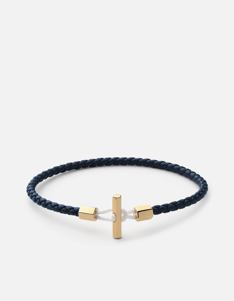 Miansai - Vice Leather Bracelet, Gold Vermeil