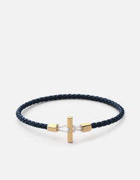 Vice Leather Bracelet, Gold Vermeil | Men's Bracelets | Miansai