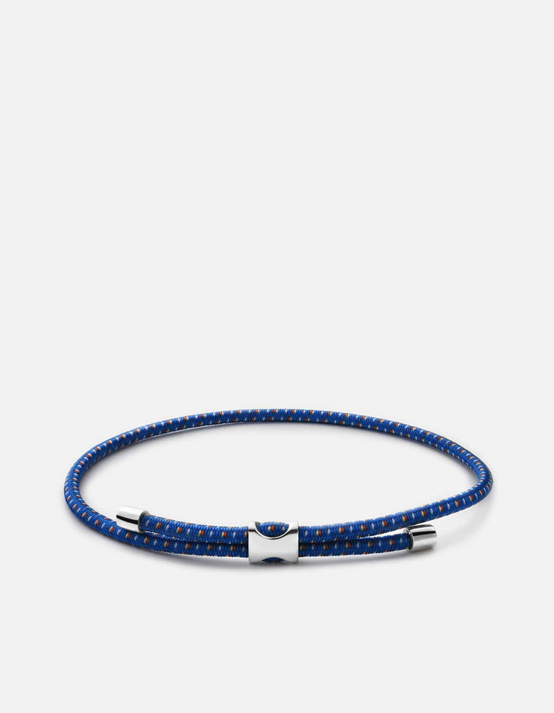 Orson Pull Bungee Rope Bracelet, Sterling Silver, Cobalt Blue - Miansai