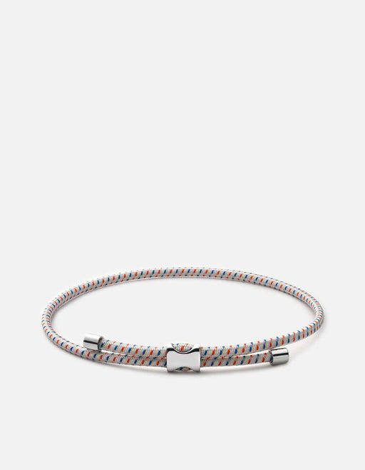 Orson Pull Bungee Rope Bracelet, Sterling Silver, Off white- Miansai