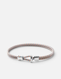Orson Loop Bungee Rope Bracelet, Sterling Silver, Off White - Miansai