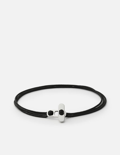 Metric Rope Bracelet, Sterling Silver, Black - Miansai