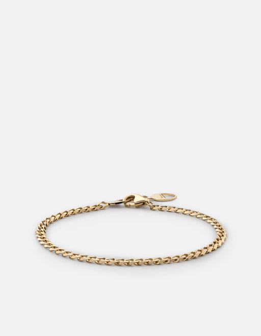 Cuban Link Bracelet, Gold Vermeil, Polished Gold - Miansai