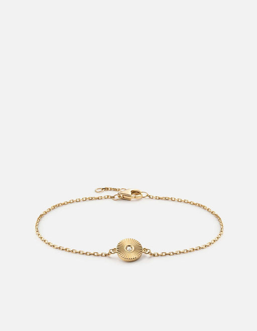 Rey Chain Bracelet, Gold Vermeil w/White Sapphire, Polished Gold w/ Pave - Miansai