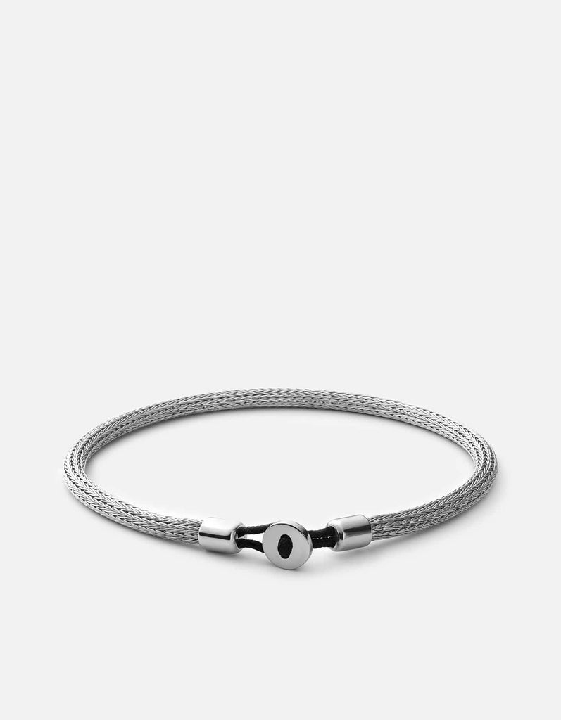 Nexus Knit Bracelet, Sterling Silver, Polished Silver - Miansai