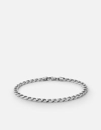 4mm Cuban Chain Bracelet, Sterling Silver - Miansai
