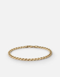 4mm Cuban Chain Bracelet, Gold Vermeil - Miansai