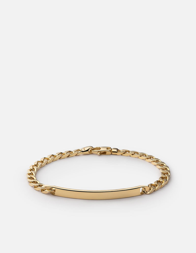 4mm ID Chain Bracelet, Gold Vermeil - Miansai