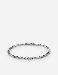 3mm Figaro Chain Bracelet, Sterling Silver - Miansai