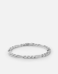 5mm Figaro Chain Bracelet, Sterling Silver - Miansai
